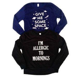 Blue and black soft fuzzy sweatshirt bundle